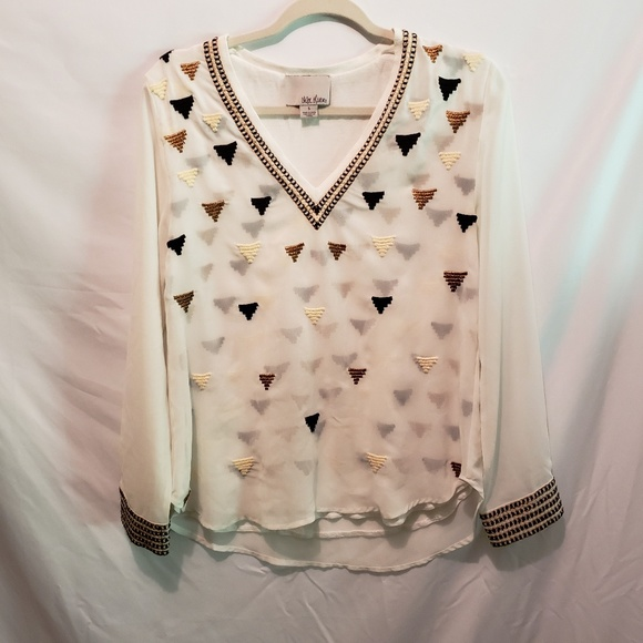 Anthropologie Tops - Anthropologie Chloe Oliver Sz Small Embroidered To